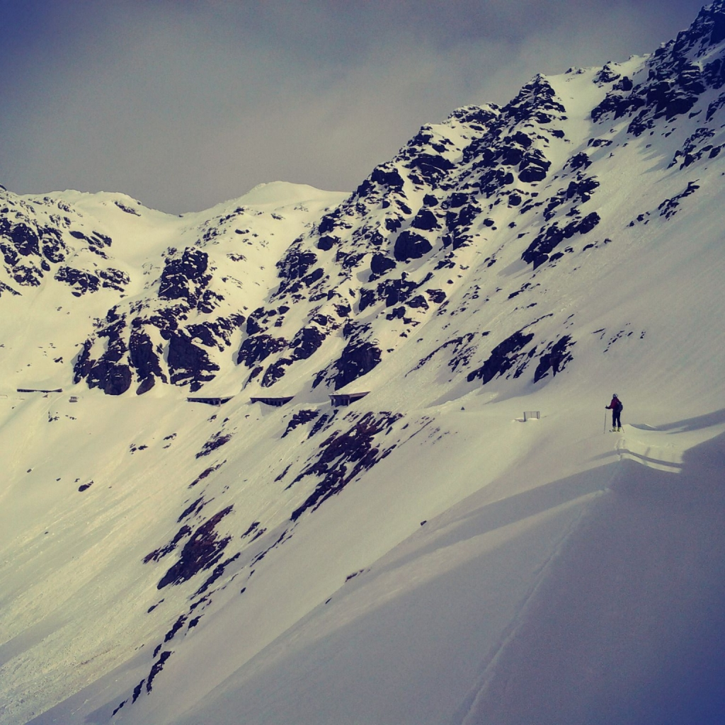 The most dangerous part, high risk of avalanche