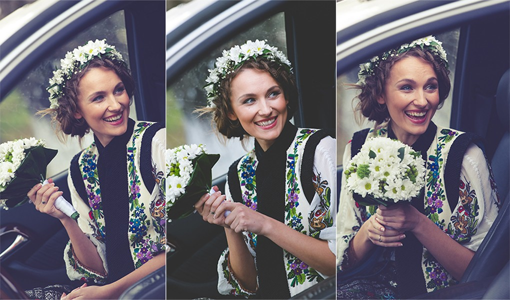 Smile, it is your day my darling, Romanian traditional wedding, Bucovina, Photo copyright Ovidiu Lesan