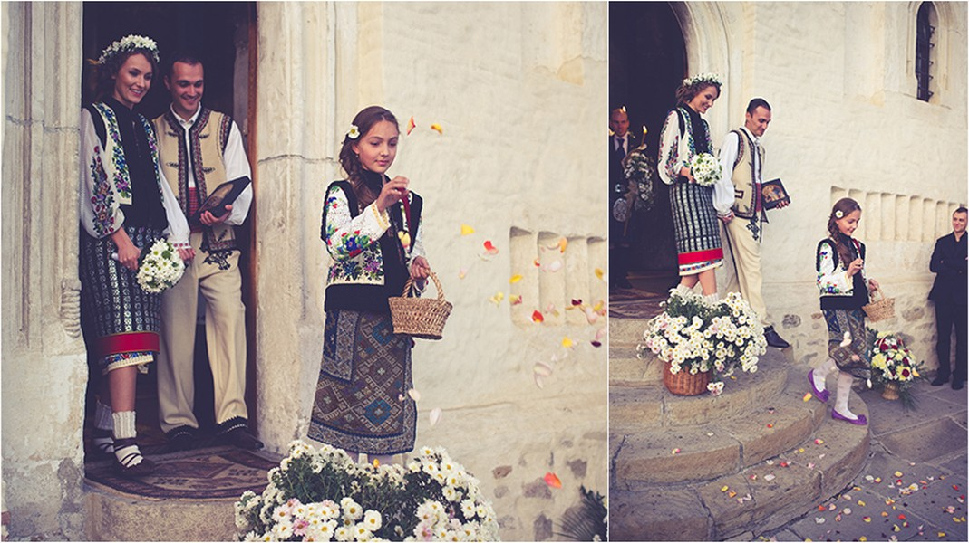 Flowers, emotions, little girl, pureness, Pure Romania, wedding, Traditions, Photo copyright Ovidiu Lesan